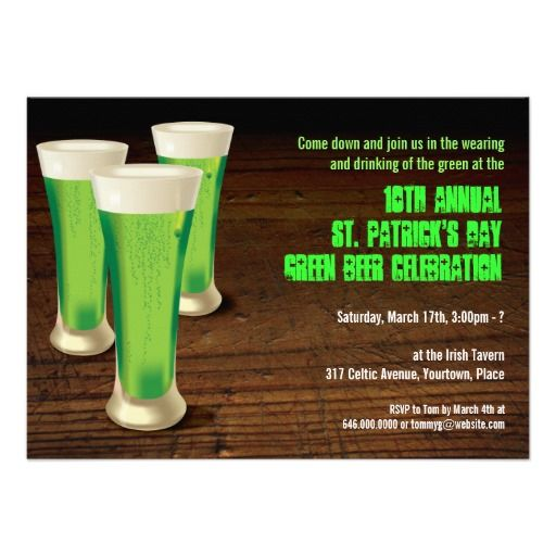 ==> consumer reviews          Green Beer St Patricks Day Party Invitation           Green Beer St Patricks Day Party Invitation We have the best promotion for you and if you are interested in the related item or need more information reviews from the x customer who are own of them before pleas...Cleck Hot Deals >>> http://www.zazzle.com/green_beer_st_patricks_day_party_invitation-161859719026136640?rf=238627982471231924&zbar=1&tc=terrest