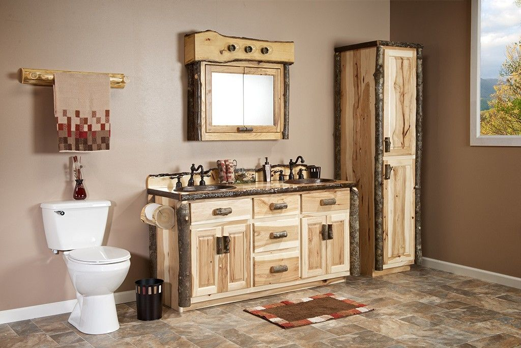 Real Hickory Rustic Bathroom Vanity 48 72 Rustic Bathroom Ideas But No Toilet Paper Made