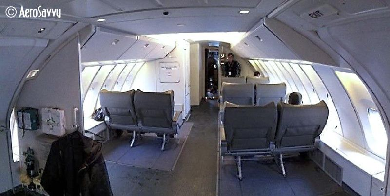 Anatomy of a Freighter 14 - Jumpseat configuration on a 747-400BCF (Boeing Converted Freighter). (Photo by the author)