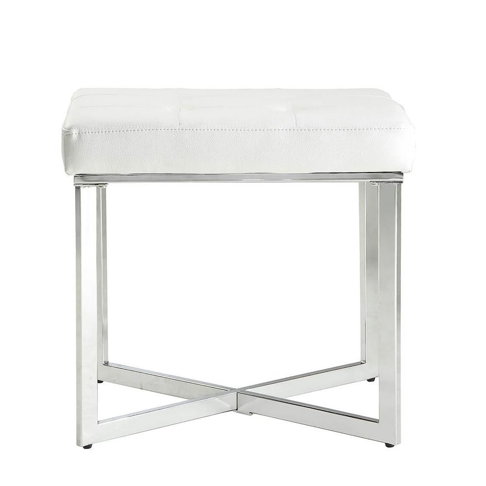 Carolina Cottage Summer White Tufted Vanity Bench Vb2016 Whtchr Vanity Bench Vanity Stool Upholstered Bench