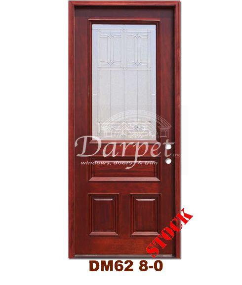 DM62 Mahogany Exterior 3/4 Arch Lite Diablo Zinc Caming 8 0 | Darpet