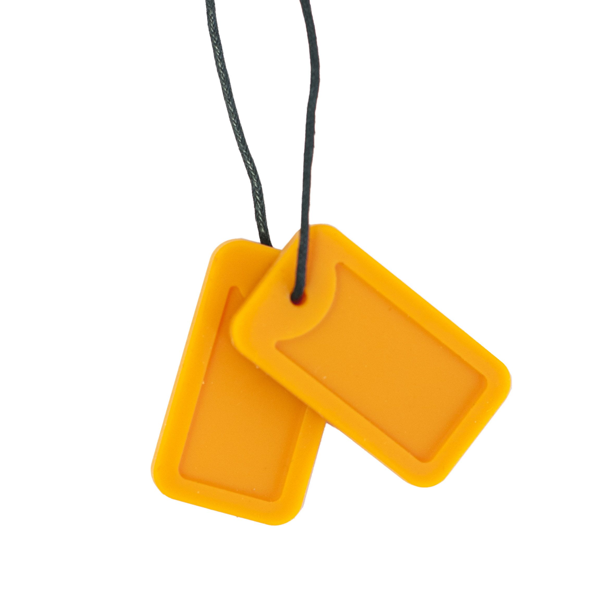 JUICEy We love the Chewigem orange on these Dog Tags Match it