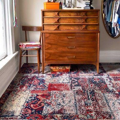 Nizhoni Patchwork Crimson Carpet Squares Carpet Trends Carpet Tiles