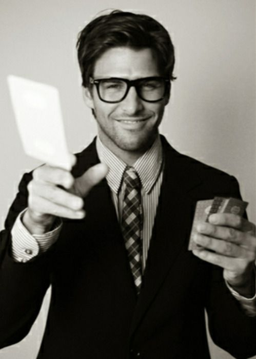 Men can look good in glasses too...