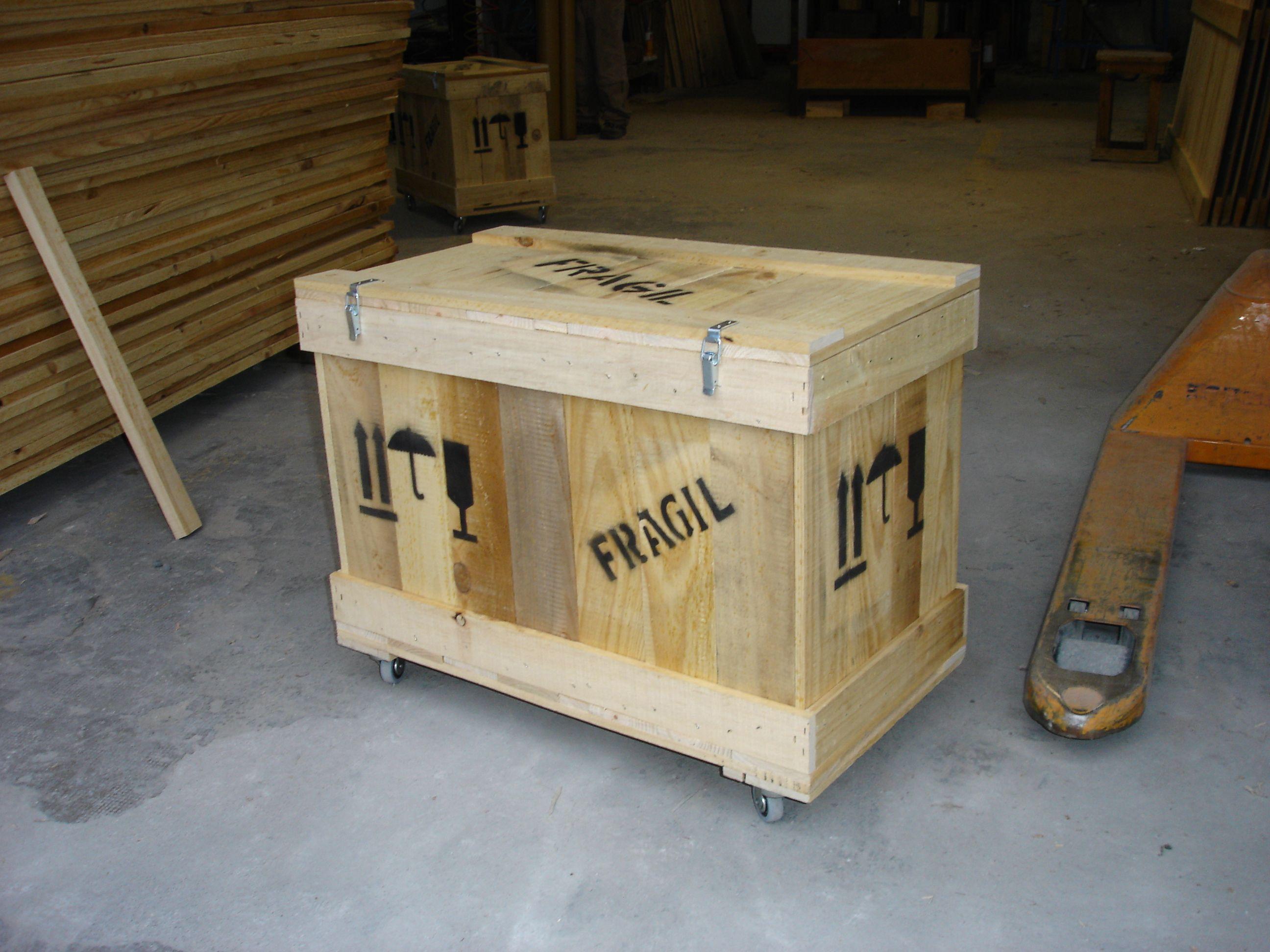 Caja de madera con ruedas y fragil cajas de madera - Caja herramientas con ruedas ...