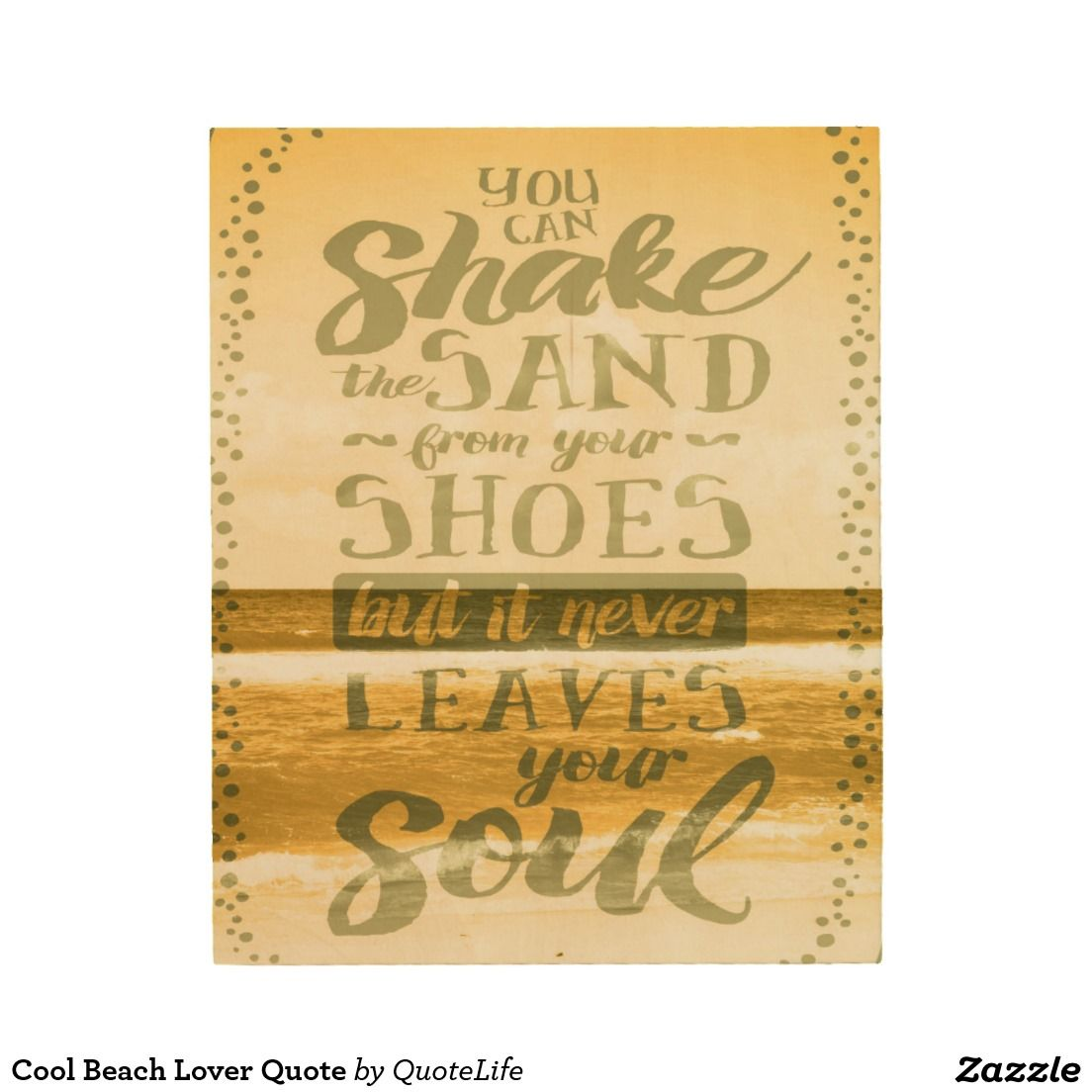Cool Beach Lover Quote Wood Wall Art #beach #decor #typography ...