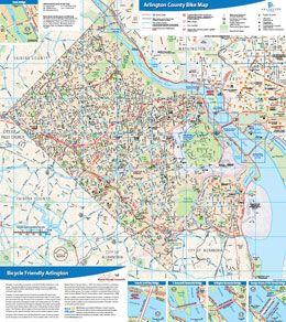 bikearlingtoncom Includes Arlington County VA bike map plus