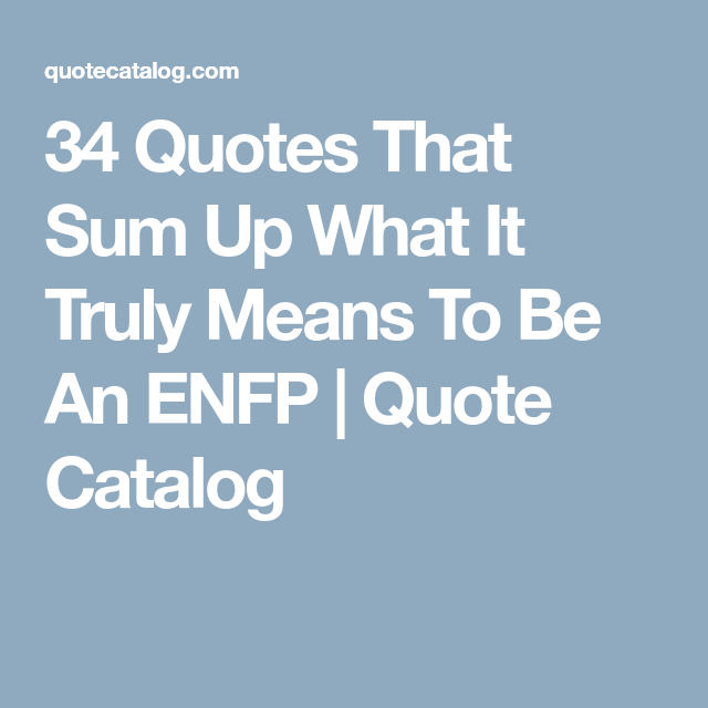 Enfp quotes