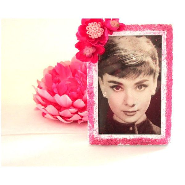 Picture Audrey Hepburn Shabby Chic Repurposed Frame Home Decor