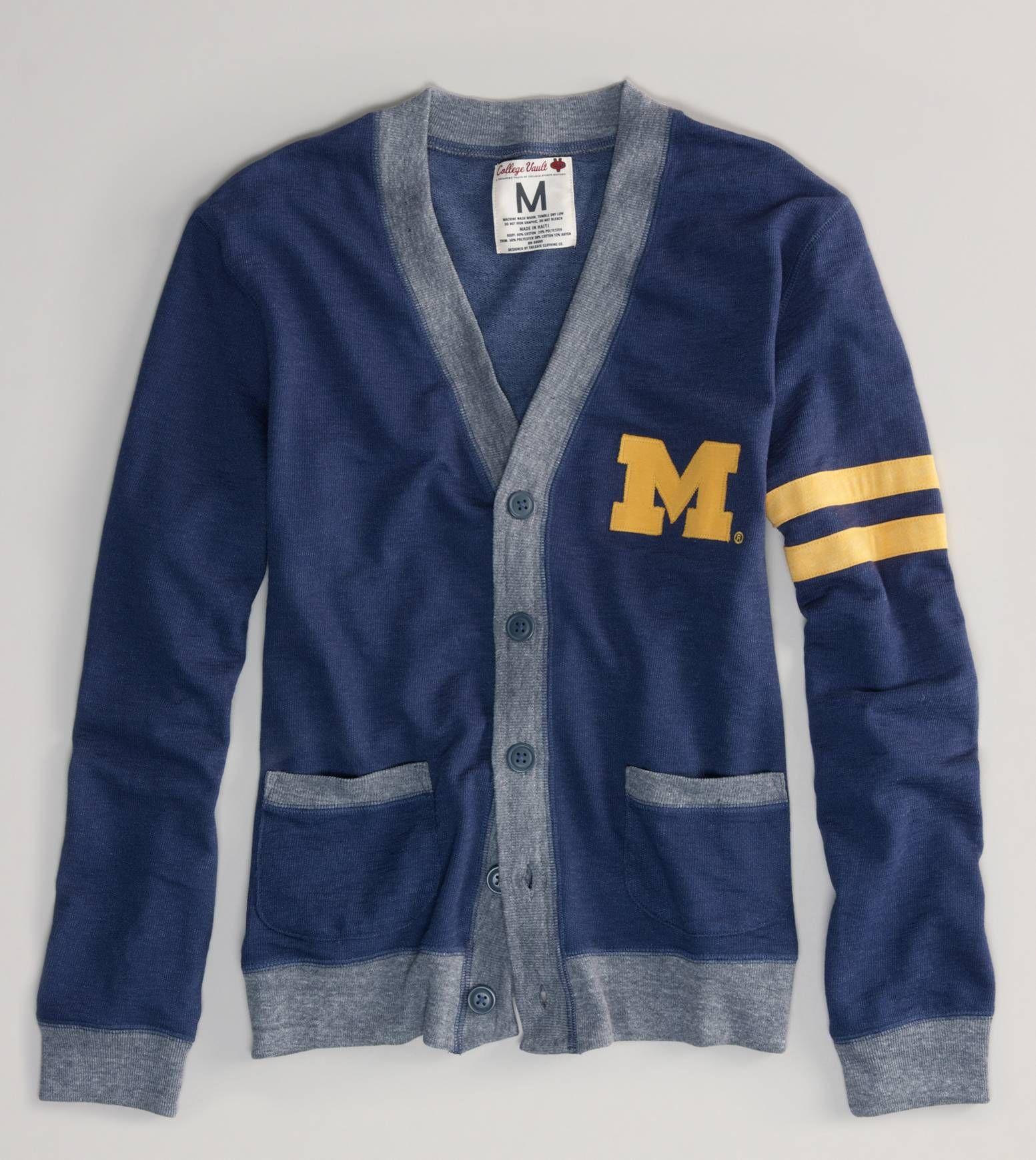 ffbfacc7 Vintage Michigan Cardigan // American Eagle Outfitters // $49.95 GO BLUE!