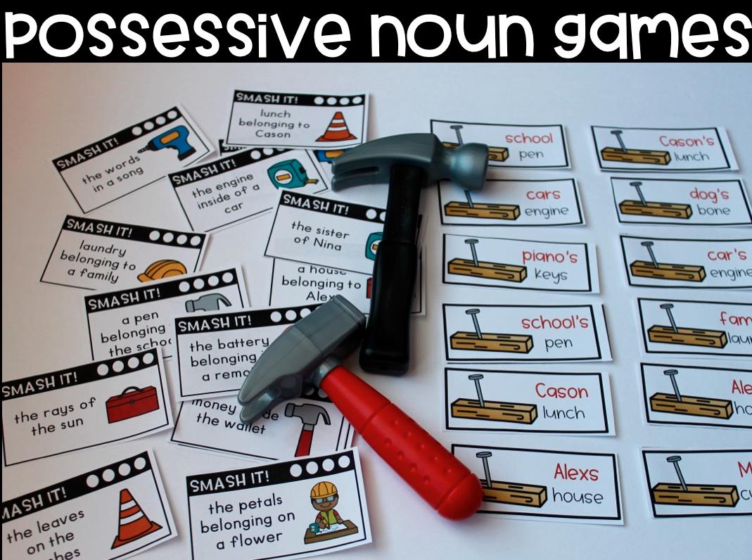 Possessive Noun Games and Quiz Nouns, Noun games