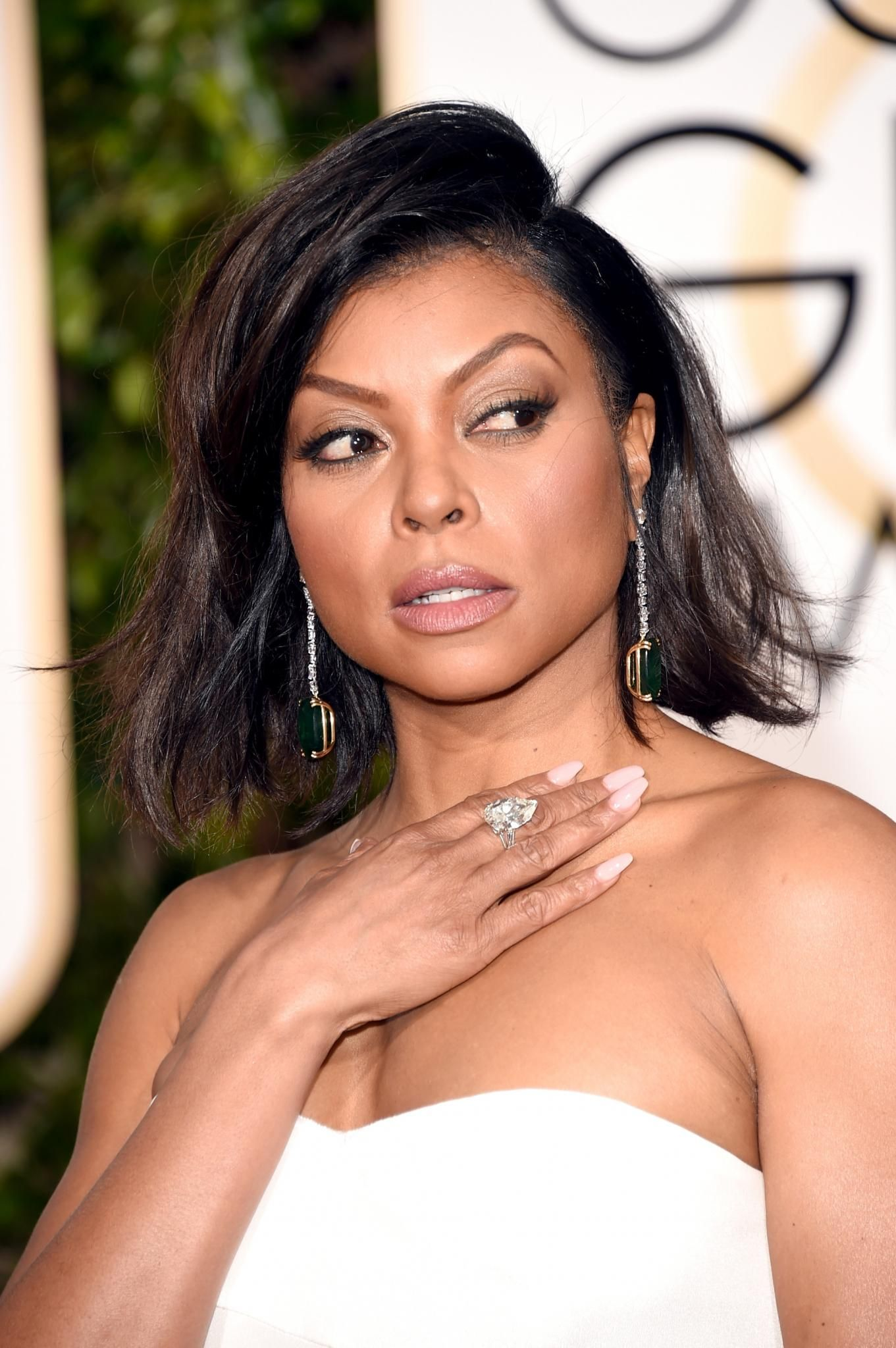 """This look is not only chic, but sexy and effortless; perfect for anyone who wants to play as a goddess for the night,"" says makeup artist Ashunta Sheriff who created Taraji's look with L'Oreal Paris products. from Essence.com"
