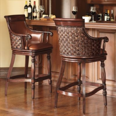 Cool Marco Woven Back Bar Stool From Frontgate Expensive But So Spiritservingveterans Wood Chair Design Ideas Spiritservingveteransorg