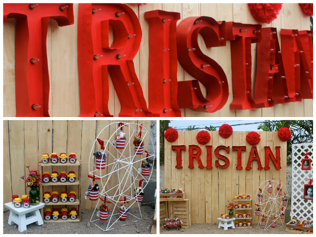 Tristans Vintage Carnival Party Backdrop