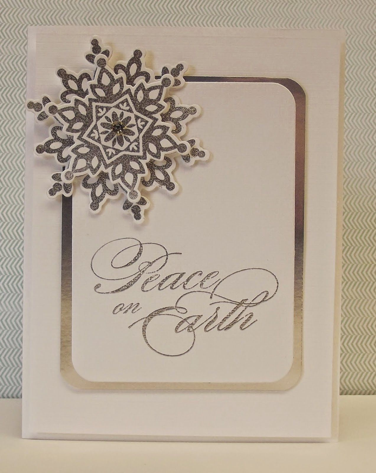 silver embossed, metallic silver encore ink, silver foil paper