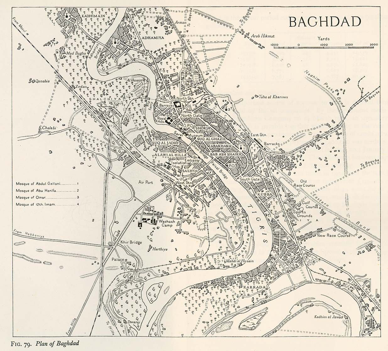 Map Of Baghdad In 1944