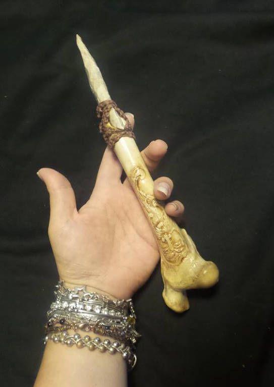 Carved Bone Knife Bone Athame Flint Knapping Carved Knife Etsy Bone Carving Carving Leg Bones