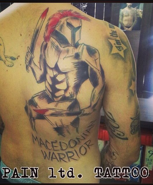Pero anti 39 s macedonia warrior tattoo pero anti for Italian warrior tattoos