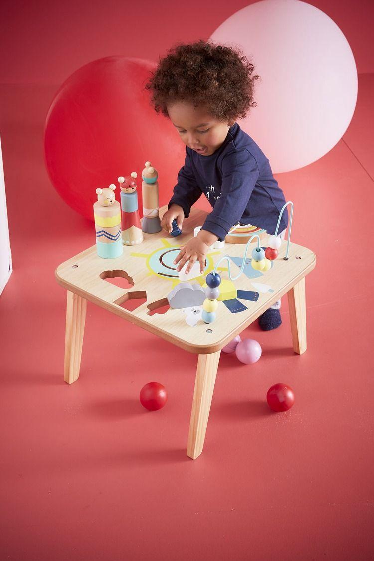 Table D Activites Petits Sioux Bleu Vertbaudet Table De Jeux Enfant Table D Activite Table De Jeux