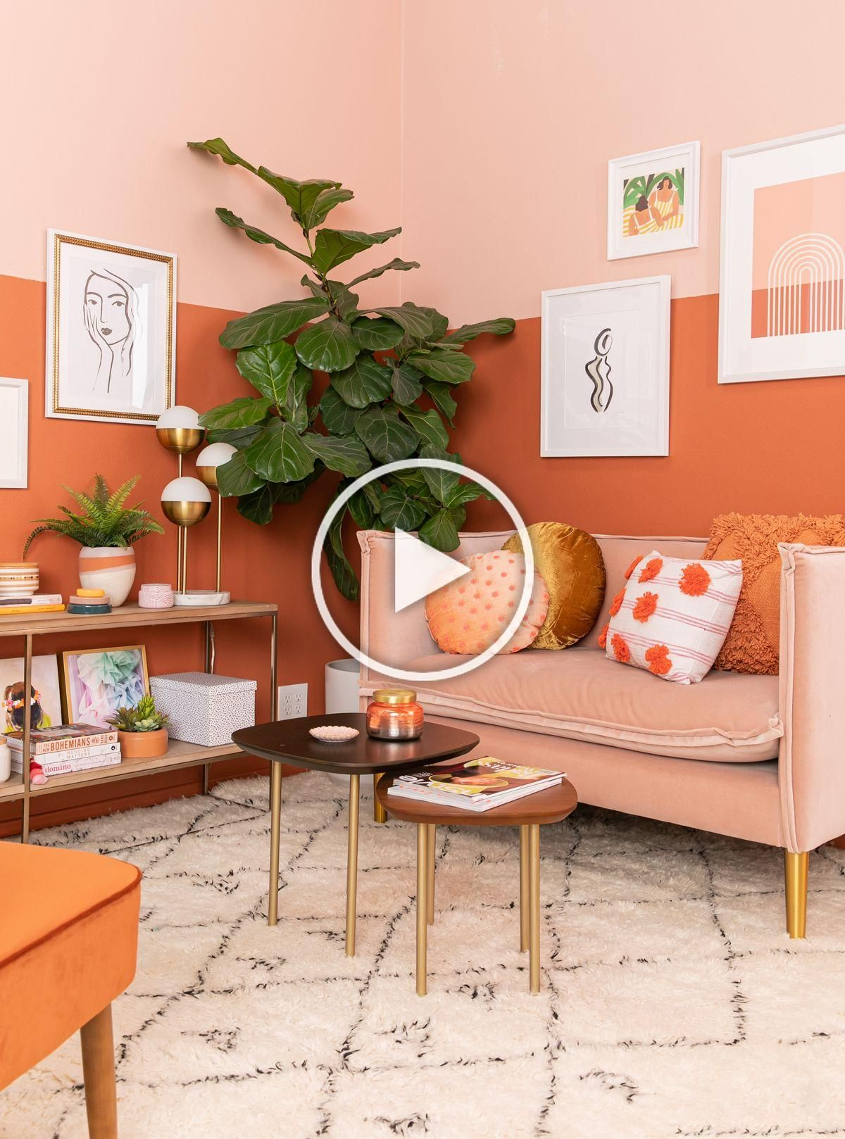 color adventures: an orange-inspired living room! - Oh Joy