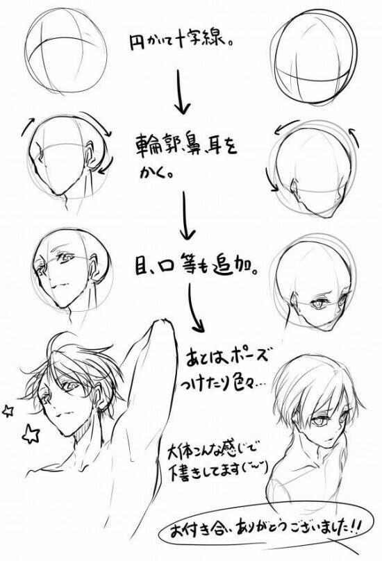 فصل تعليم رسم الانمي نماذج 1 In 2020 Manga Drawing Tutorials Face Angles Art Reference Poses