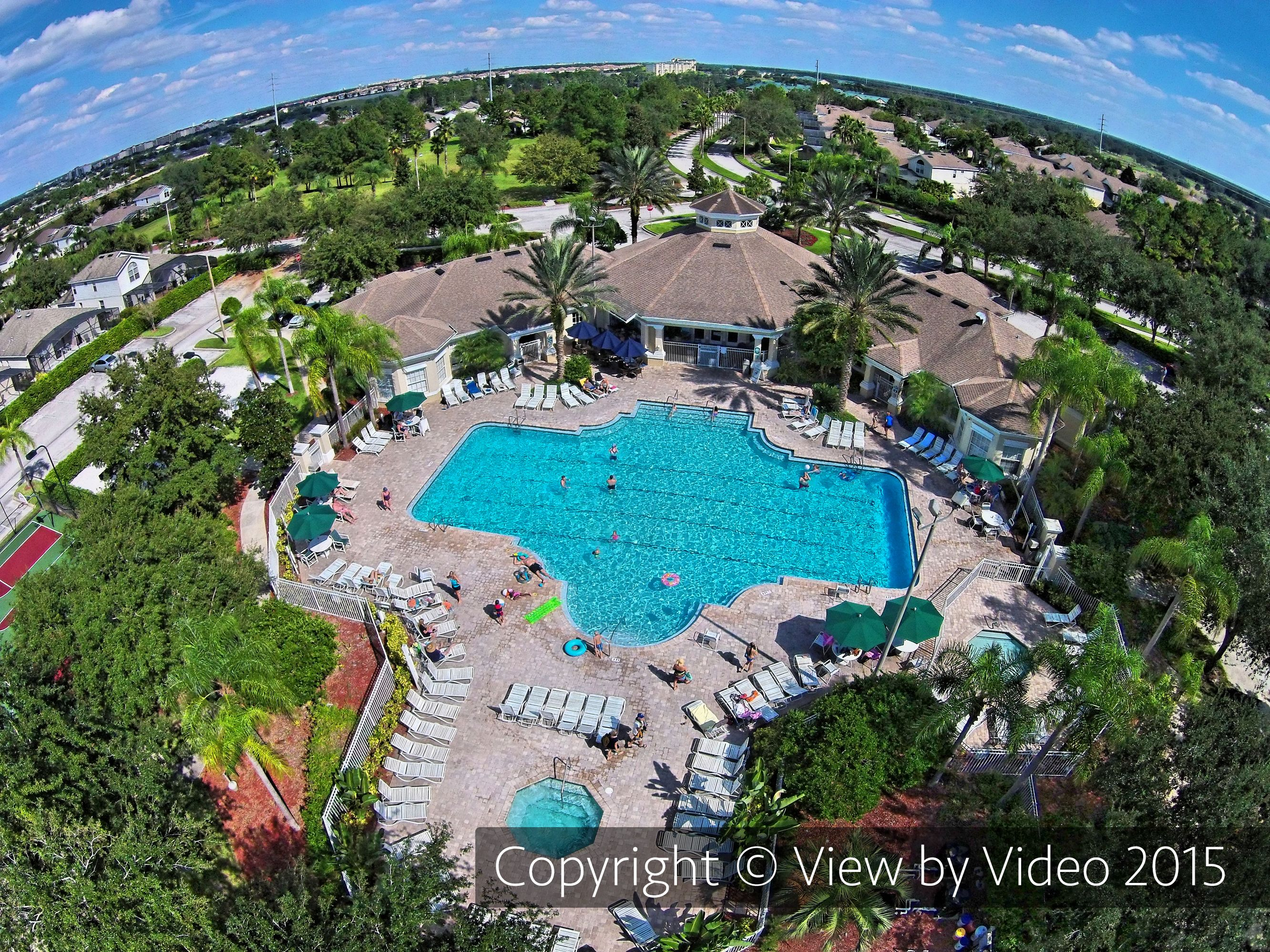 The Large Community Swimming Pool At Windsor Palms Resort In