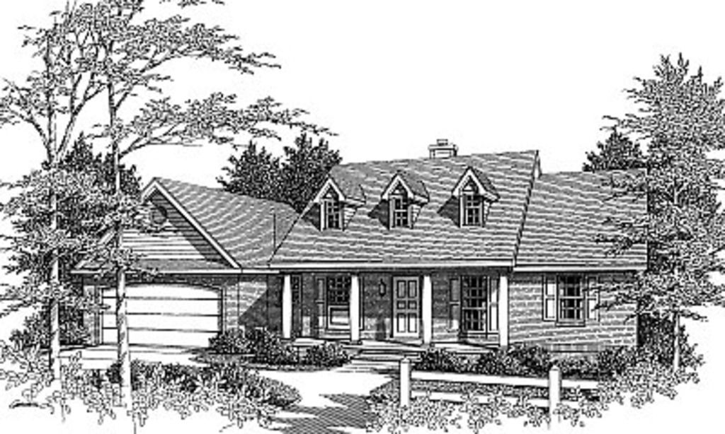 Colonial Style House Plan 3 Beds 2 Baths 1298 Sq Ft Plan 14 139 Country Style House Plans Monster House Plans Ranch House Plans