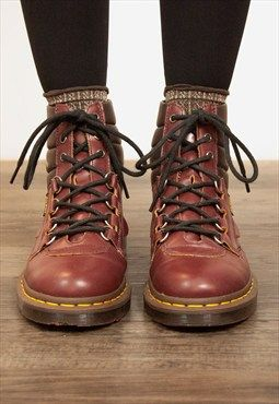 58166acb37c Dr. Martens Kamin Vintage Smooth Hiking Boots | Boots | Boots, Shoes ...