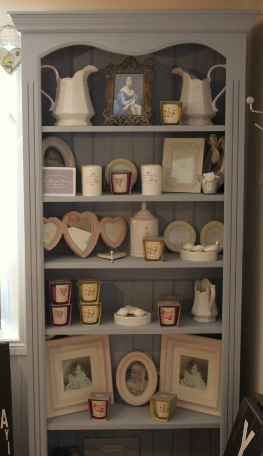 La Vie En Rose Bookcase Painted In Annie Sloan Chalk PaintTM