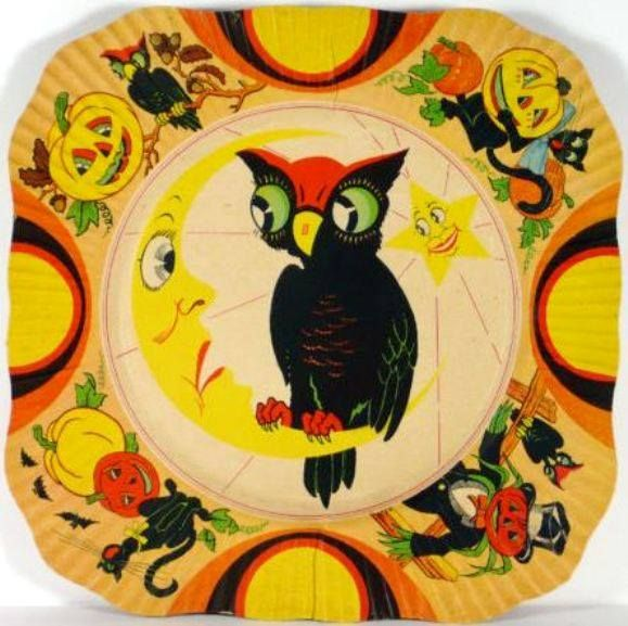 Vintage Halloween party plate made by Beach  Arthur (1930\u0027s) \ - halloween ideas party