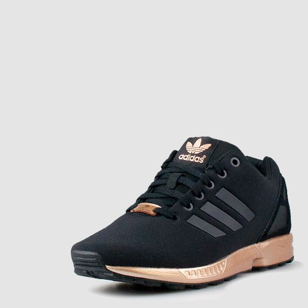 new product 48128 3dd60 ... for midfoot integrity Compression-molded EVA midsole for lightweight  cushioning Molded heel cage ZX 8000 rubber outsole Imported. Adidas Zx Flux  Black ...