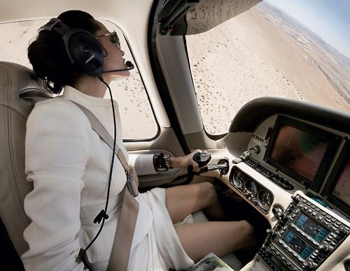 One of my favorite pics.  Female pilots rock!  Even more when its Angelina.