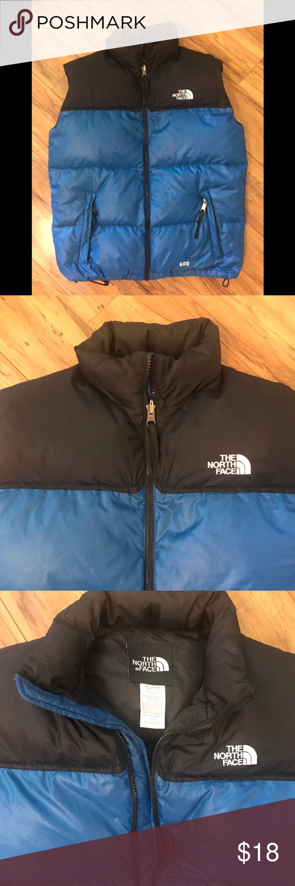 North Face 600 Down Vest Blue Black Boys Xl Down Vest From The North Face 600 Fill Zip Front Zip Pockets Black Colorblo Black Boys Down Vest The North Face [ 1740 x 580 Pixel ]
