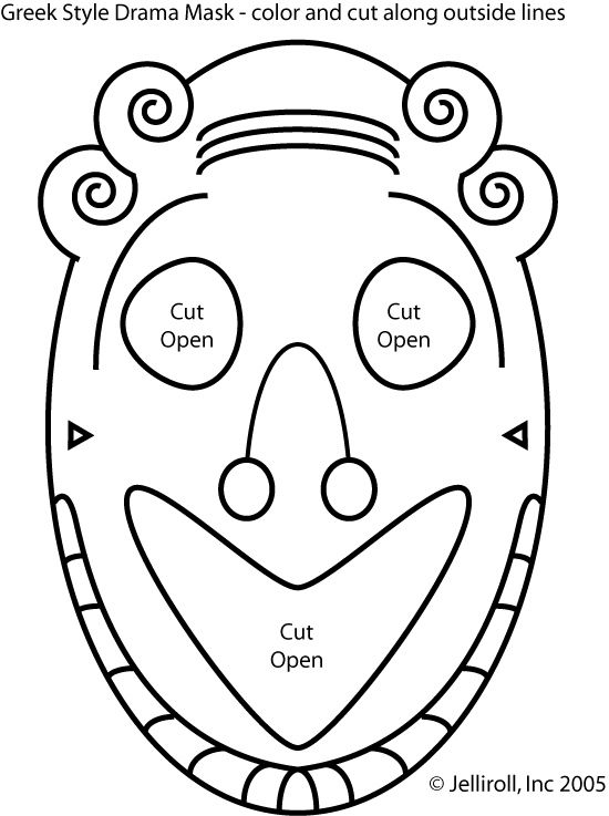 3 greek mask templates teaching masks and mask With ancient greek mask template