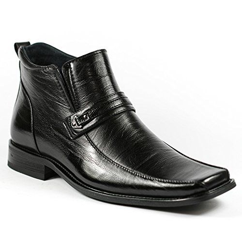 Delli Aldo Black Mens Square Toe Dress Ankle Boots Shoes w/ Leather Lining  * Click image for more details.