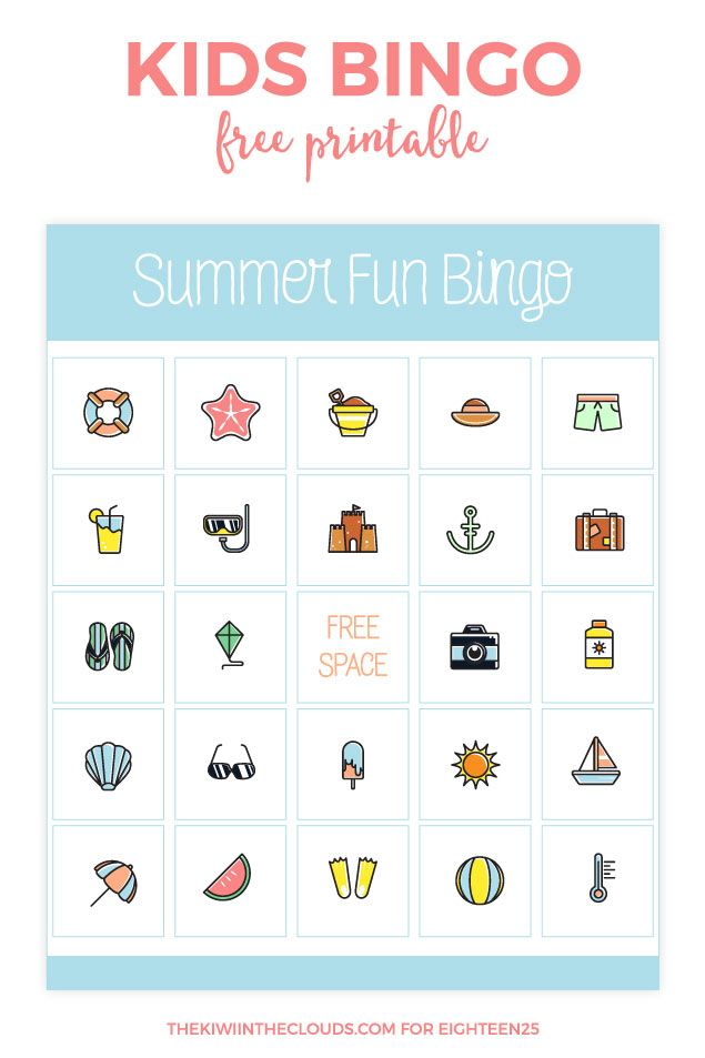 Beat The Summer Boredom Blues With This Easy And FREE Printable Bingo Card Theres