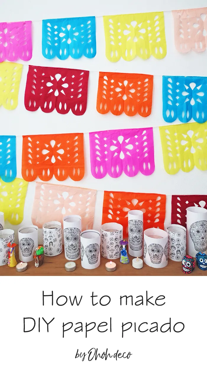 How to make DIY papel picado - Ohoh deco -   diy Decoracion mexicana