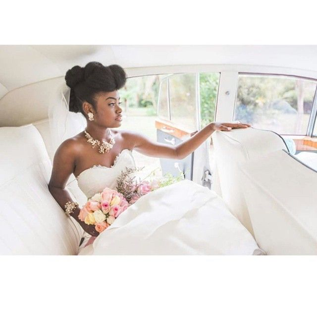 Jamaican Wedding Hairstyles: Swerve. Only The Best. #RollsRoyce #Naturalhairbride
