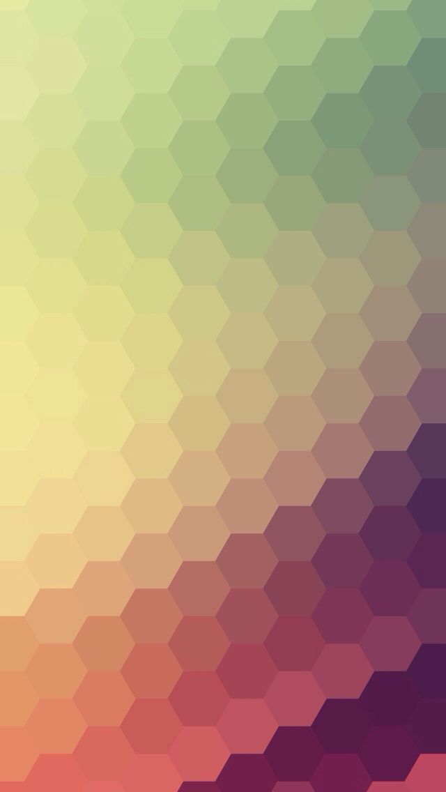 Gradient Honeycomb Pattern IPhone 5 Wallpaper