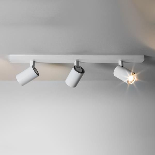 astro ascoli triple bar 6144 interior spotlight white finish uses lamps rated suitable for bathroom zone 3 class 1 earthed w 600 d - Spotlight Kitchen Lights