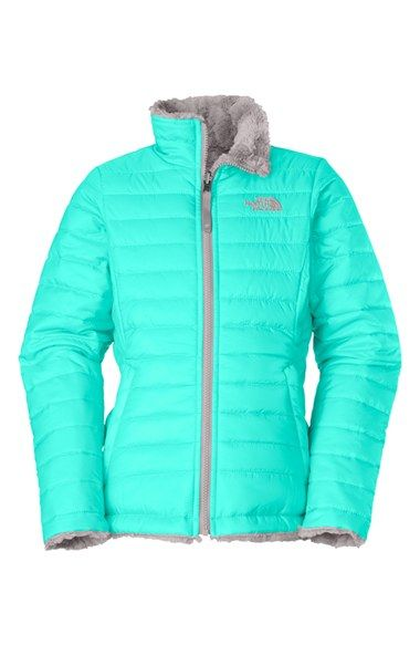 4a2c7236b6c1 The North Face  Mossbud Swirl  Water Repellant Reversible Jacket (Toddler  Girls) available at  Nordstrom