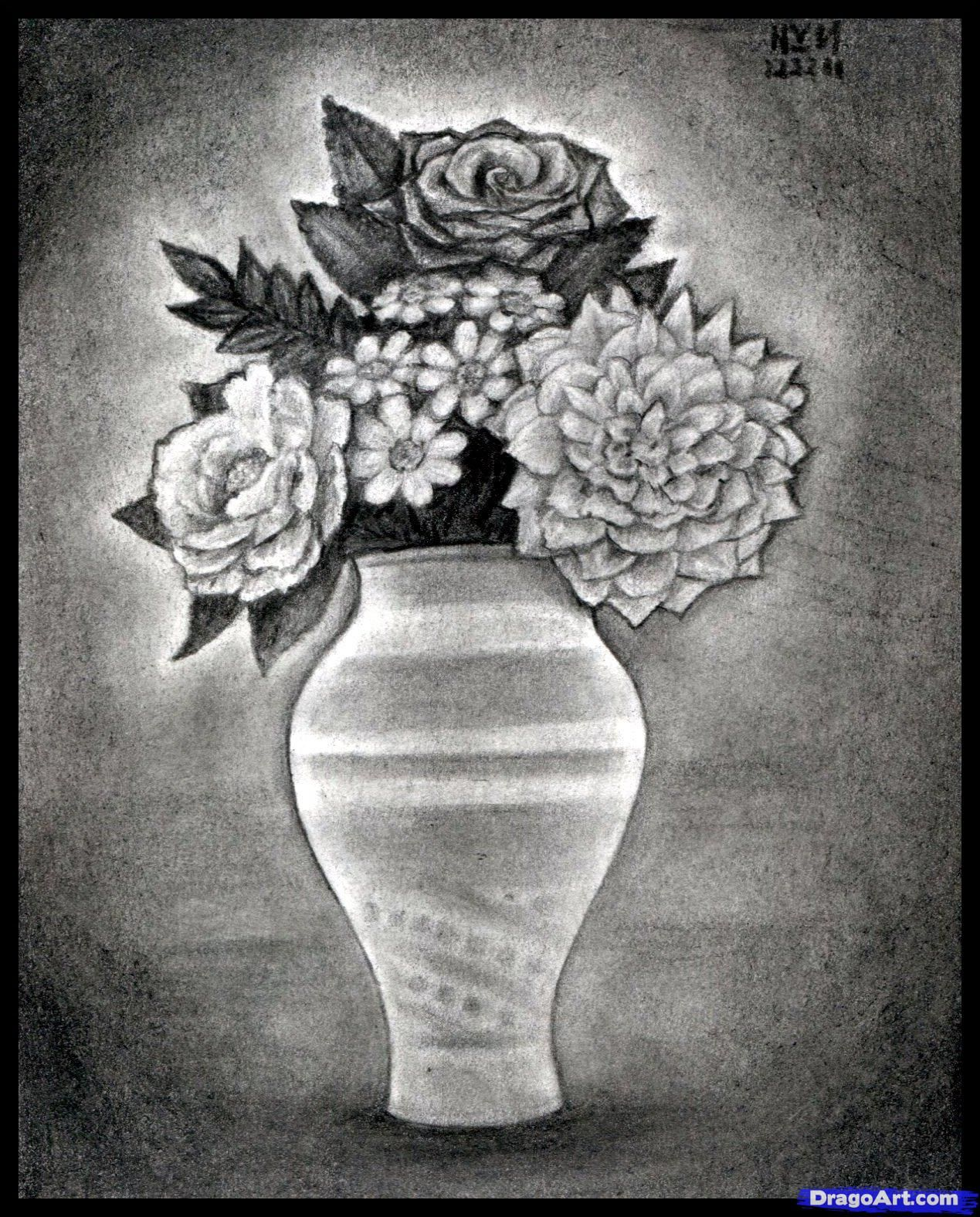 How To Draw Realistic Flowers Step By Step Realistic Drawing Technique Free Online Drawing Tutorial Adde Realistic Drawings Pencil Drawings Flower Drawing