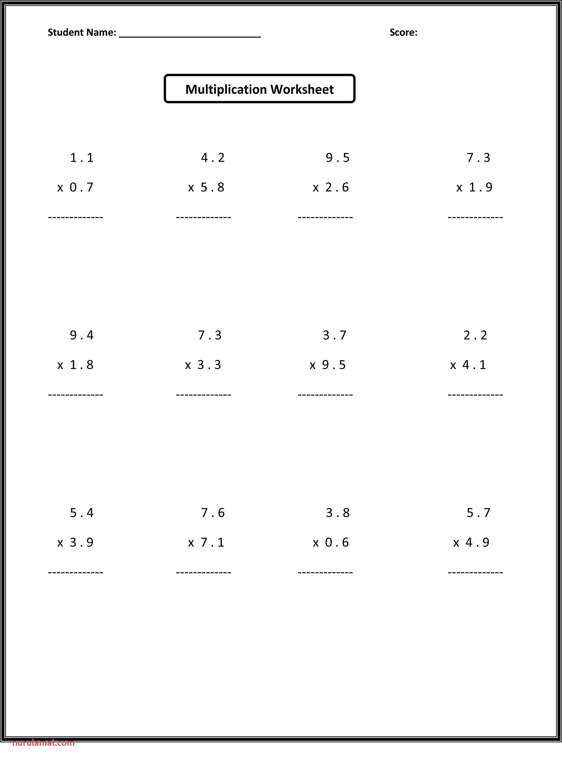 6th Grade Math Worksheets In