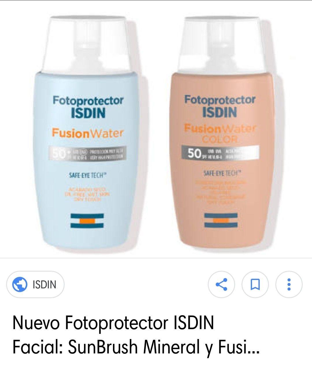Fotoprotector Isdin Fusion Water Oil Control Beleza E Cia Beleza