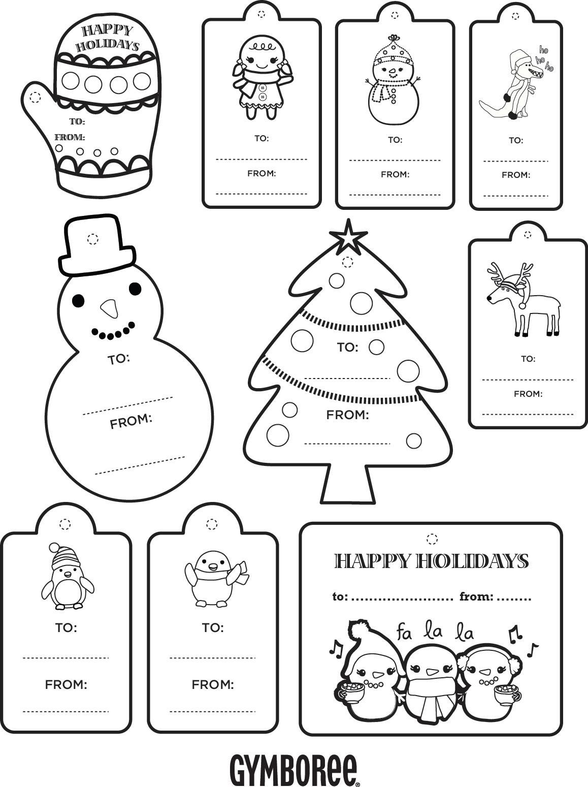 Color Your Own T Tags From Gymboree