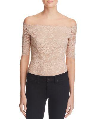 1ea691aebc7e GUESS Dara Off-The-Shoulder Lace Bodysuit