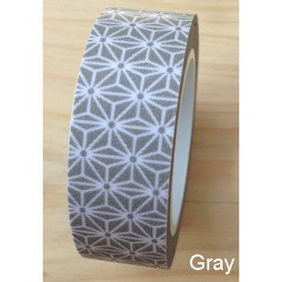 Washi Tape // Grey Japanese style.