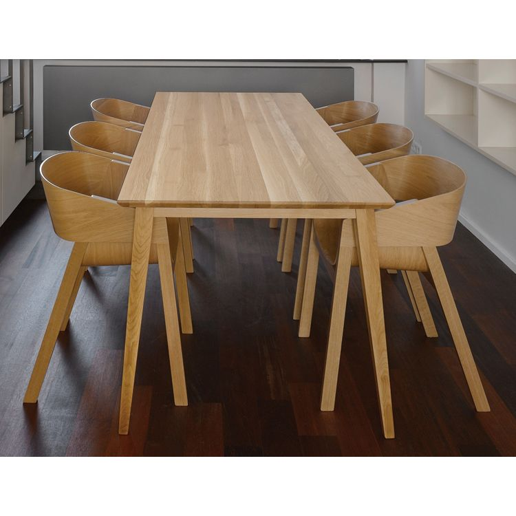 Natural Jutland Solid Oak Dining Table 220cm X 100cm The Block