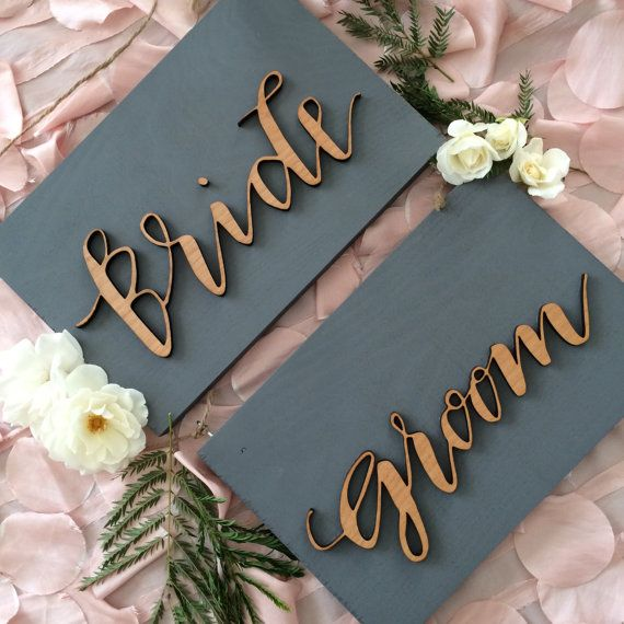 Chair Signs / Bride and Groom Signs / Mr. and by SugarAndChicShop