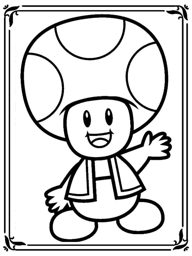 dessin champignon a imprimer google search coloriage mario moto